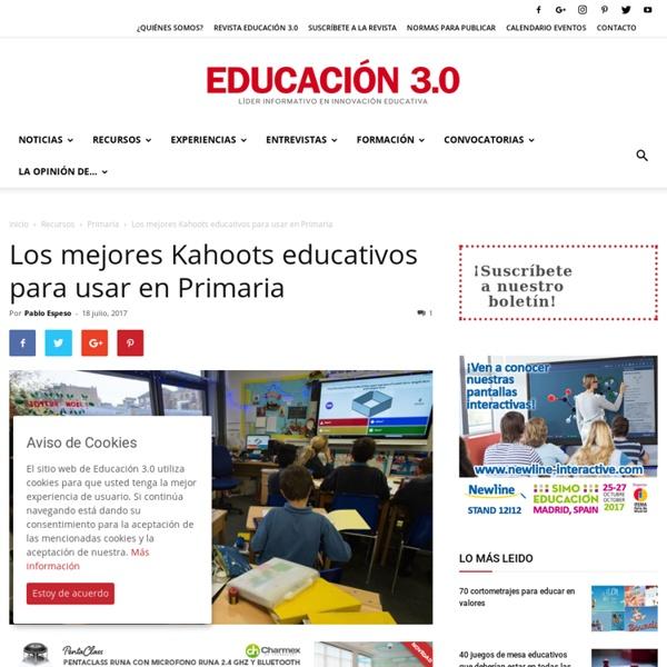 17 Kahoots educativos para usar en Primaria