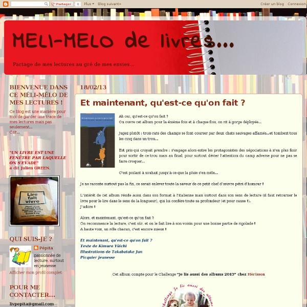 MELI-MELO de livres...