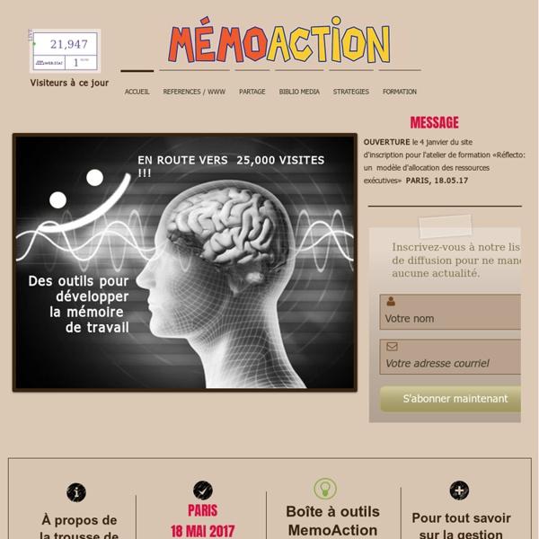 MEMOACTION: Des outils pour développer la mémoire de travail