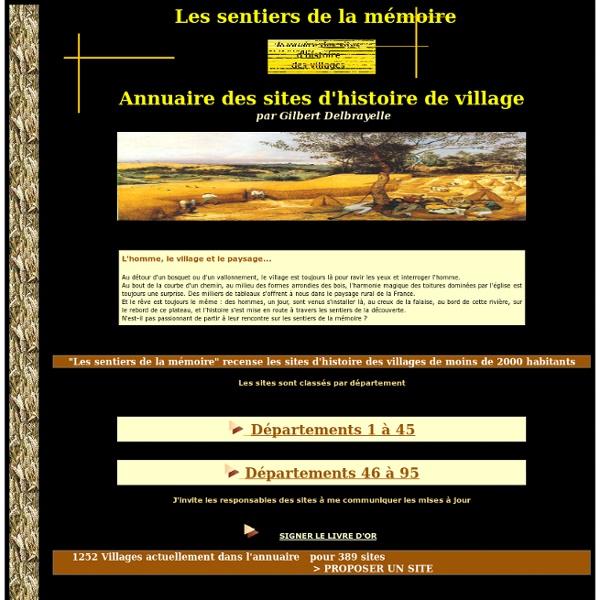 Recensements des mémoires des villages français de -2.000 hab.
