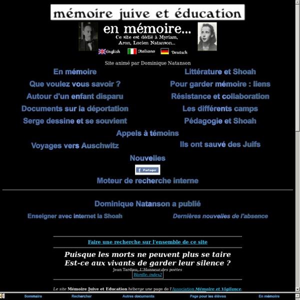 Mémoire Juive et Education