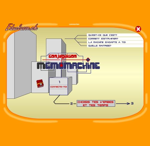 Mémomachines - Conjugaison