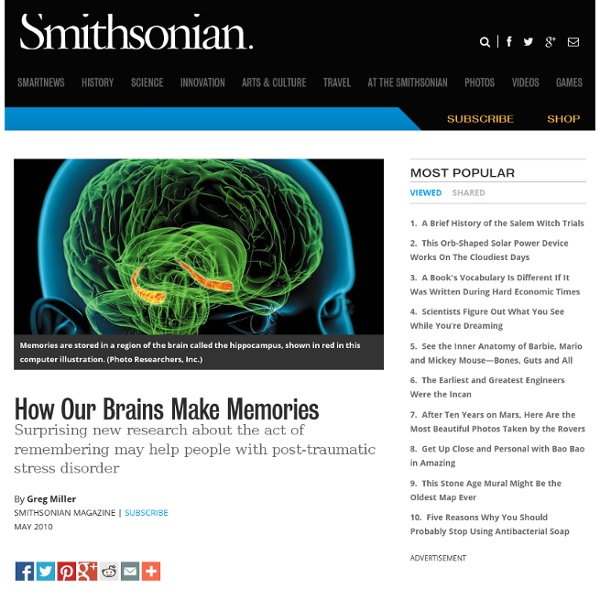 How Our Brains Make Memories