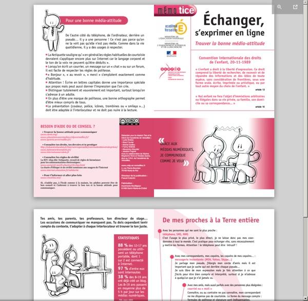 Mémotice : Echanger, s'exprimer en ligne