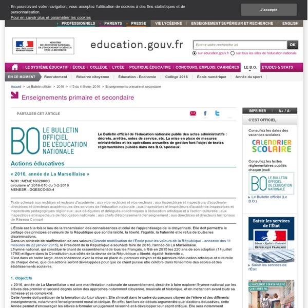 « 2016, année de La Marseillaise » BO