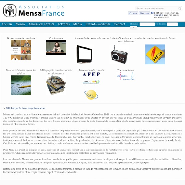Évaluez votre QI - Mensa France