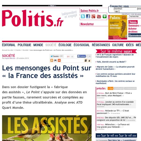 Les mensonges du Point sur « la France des assistés »