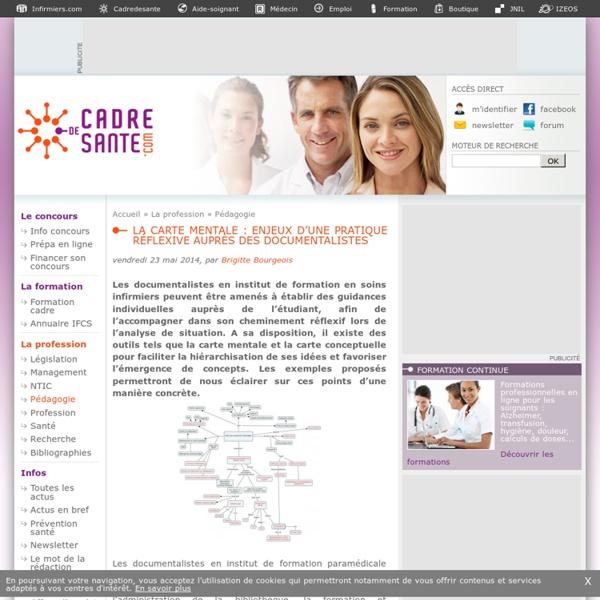 Cadredesante.com-La carte mentale : enjeux d'une pratique réflexive auprès des