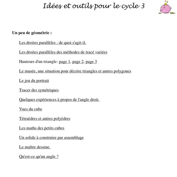 Primaths - Idées et outils pour le cycle 3