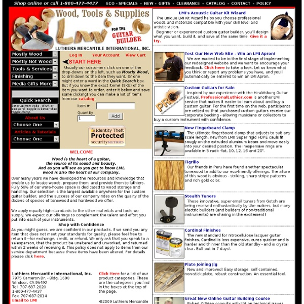 Luthiers Mercantile International, Inc. Guitar Builder Wood and Supplies
