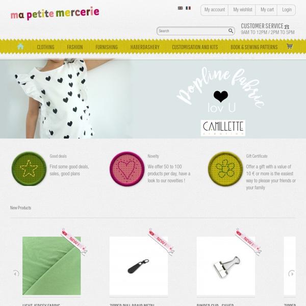 Tissus et coupon de tissus : mercerie, bouton à coudre, accessoires pour la couture - Ma Petite Mercerie