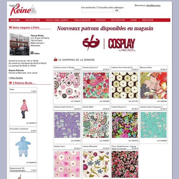 Tissus reine tissus patrons mercerie tissus en ligne e commerce - Tissus dreyfus en ligne ...
