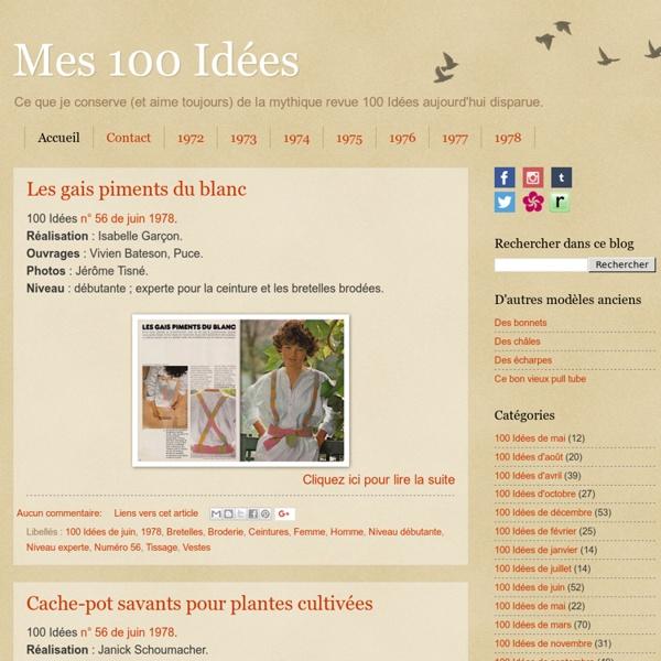 Tricots et cuisine de 100 Idées