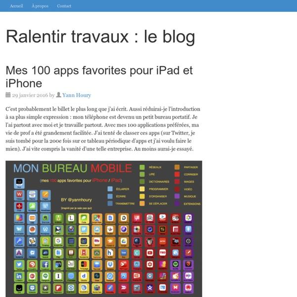 Mes 100 apps favorites pour iPad et iPhone