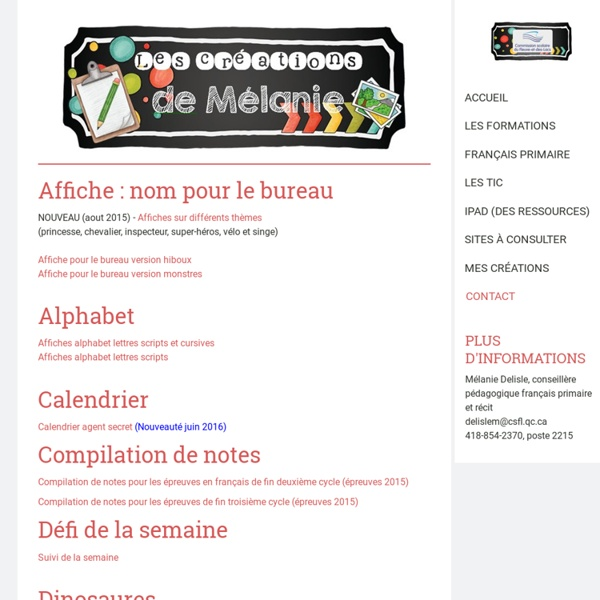Mes créations - Site de espacecp !