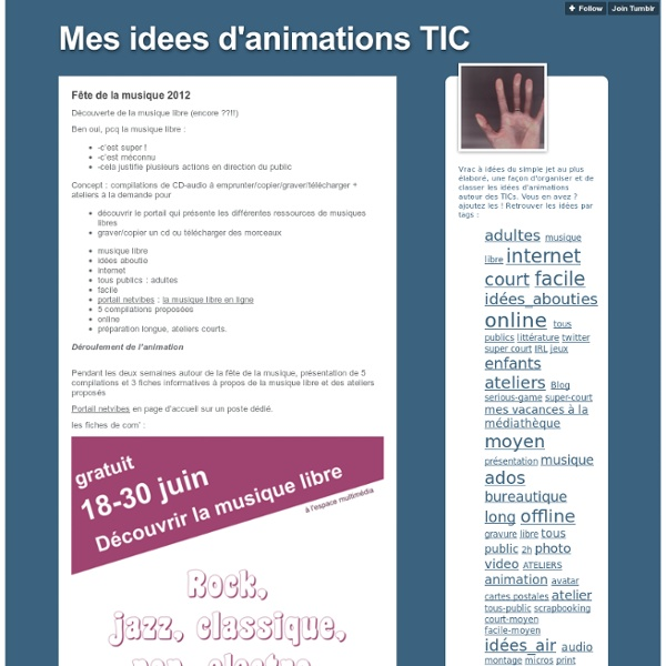 Mes idees d'animations TIC