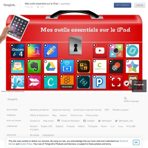 Mes outils essentiels sur le iPad