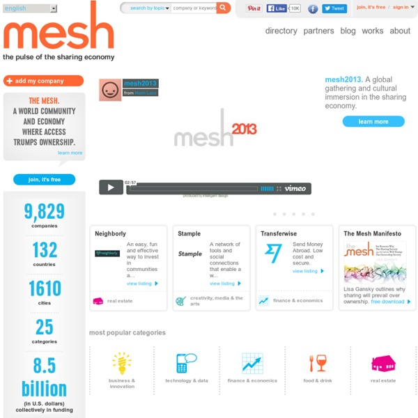 Mesh - the pulse of the sharing economy