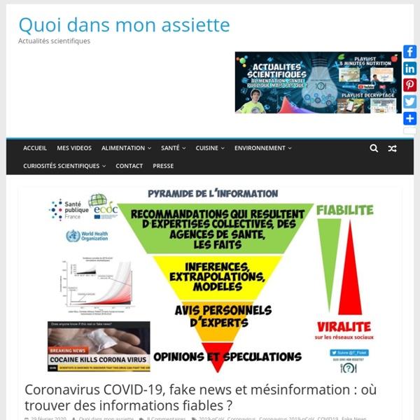 Fake news et mésinformation : où trouver des informations fiables ?