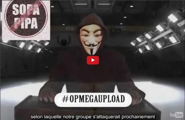 Message d'Anonymous aux Médias #opMegaUpload VOSTFR