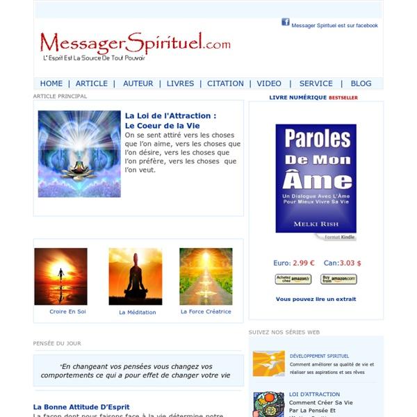 Messager Spirituel - L'Esprit Est Source De Pouvoir