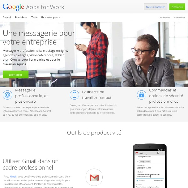 Google Apps for Work – Messagerie, outils de collaboration, etc.