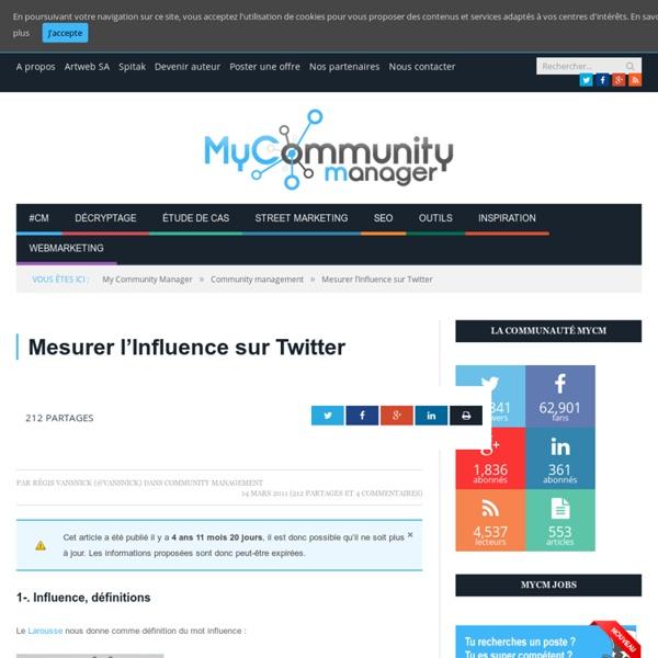 Mesurer l'Influence sur Twitter