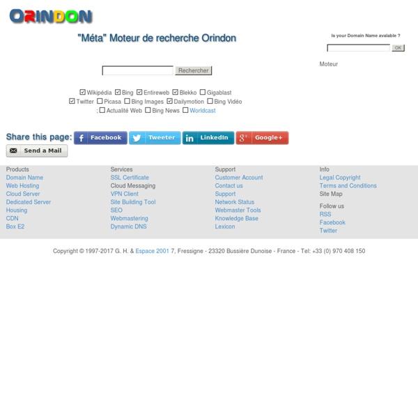 Métamoteur de recherche Orindon