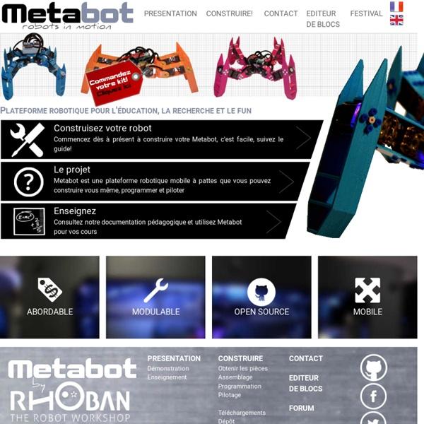 Metabot: Plateforme robotique à pattes - Metabot, robots in motion