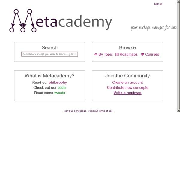 Metacademy