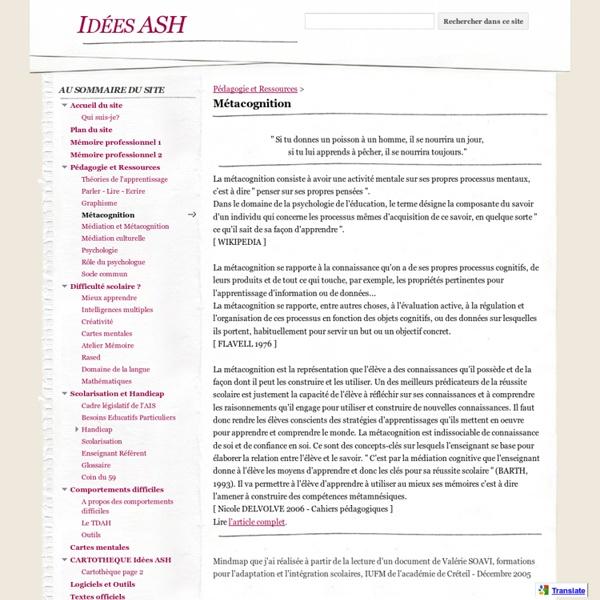 Métacognition - Idées ASH