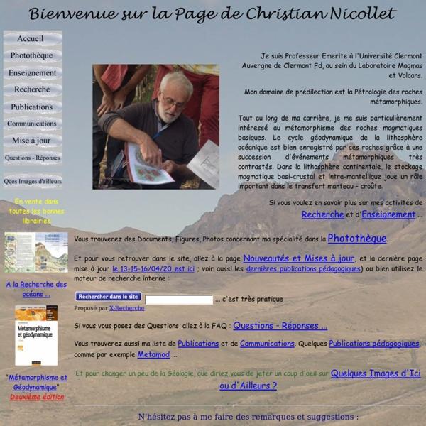 Métamorphisme, Magmatisme, Tectonique et ... Christian Nicollet