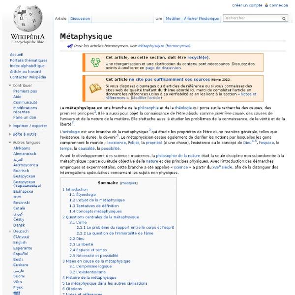 Métaphysique