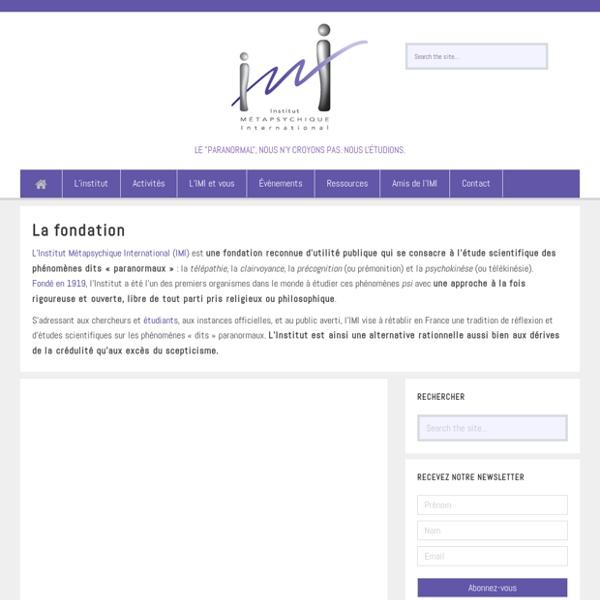 IMI Institut Métapsychique International