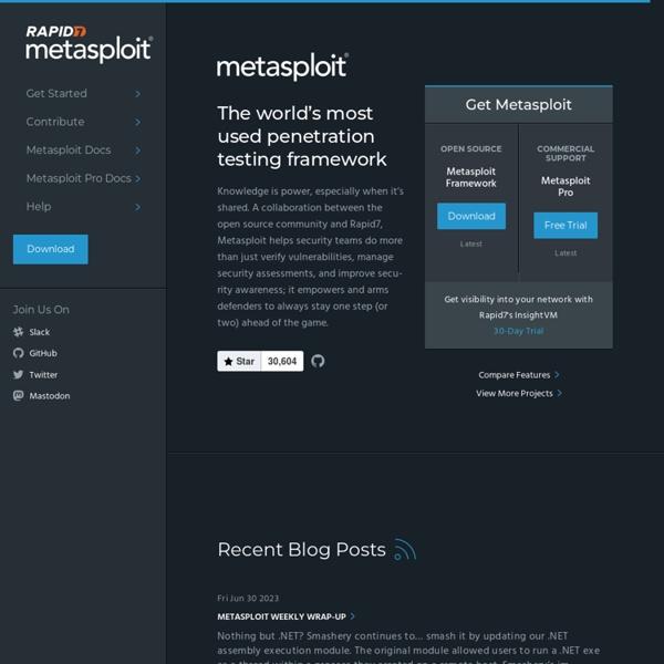 Metasploit Framework Penetration Testing Software