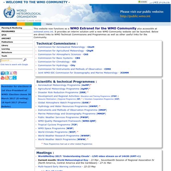 L'Organisation météorologique mondiale