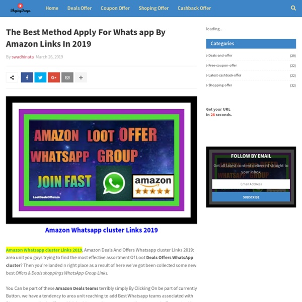 The Best Method Apply For Whats app By Amazon Links In 2019