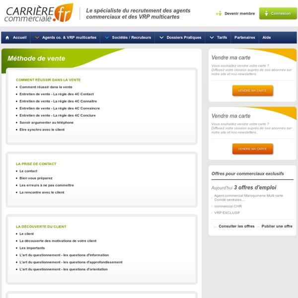 Méthode de vente - Carrière Commerciale