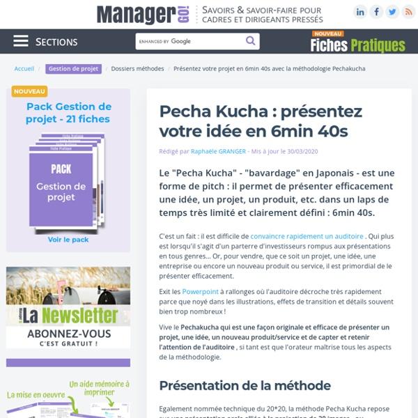 La méthode Pecha Kucha, pour un pitch efficace et original