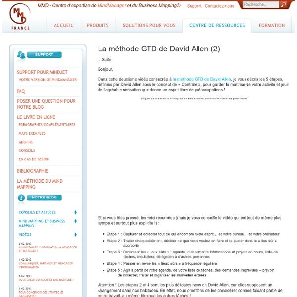 La méthode GTD de David Allen (2)