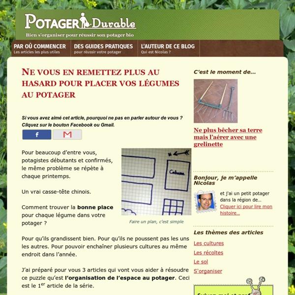Une méthode simple pour organiser les légumes dans le potager