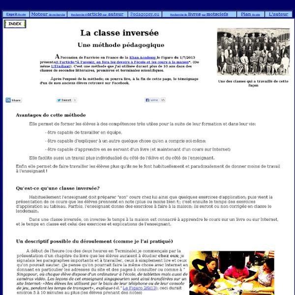 Une méthode pédagogique: la classe inversée