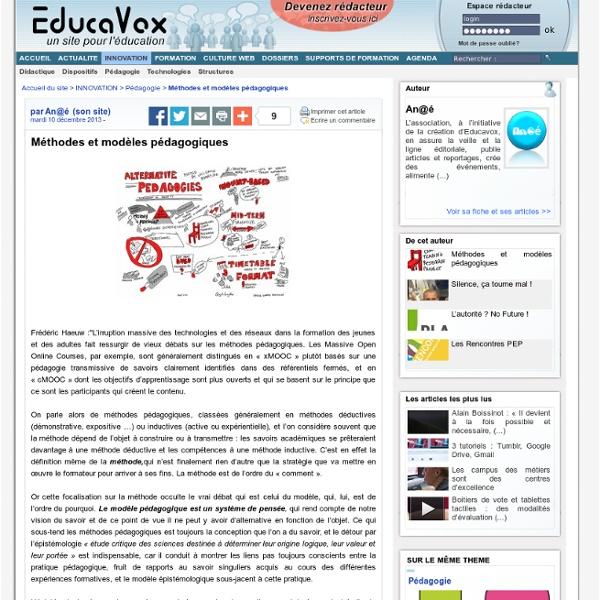 Méthodes et modèles pédagogiques
