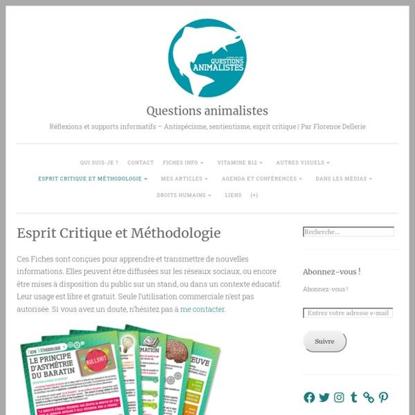 Esprit Critique & Méthodologie – Questions animalistes