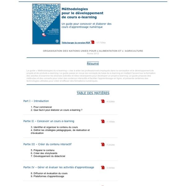 Méthodologies pour le développement de cours e-learning - Un guide pour concevoir et élaborer des cours d'apprentissage numérique