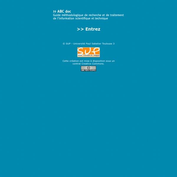 ABCdoc : guide méthodologique de recherche et de traitement de l'information scientifique et technique