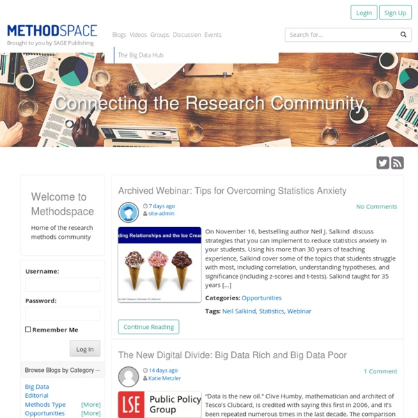 Methodspace - home of the Research Methods community