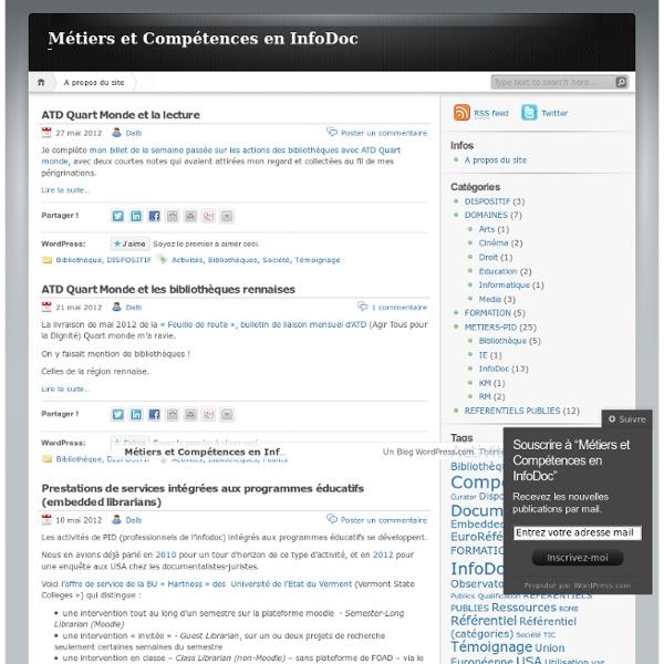 Métiers et Compétences en InfoDoc