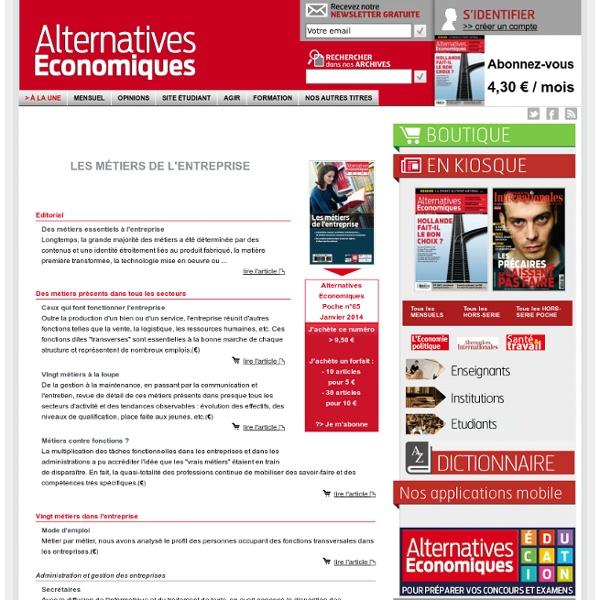 Les métiers de l'entreprise n°065 Janvier 2014