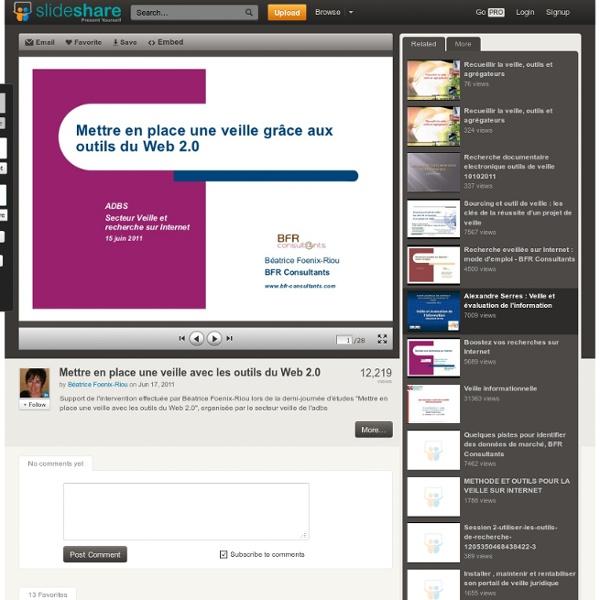 Mettre en place une veille avec les outils du Web 2.0